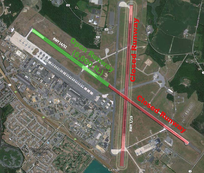Dover AFB airfield closure