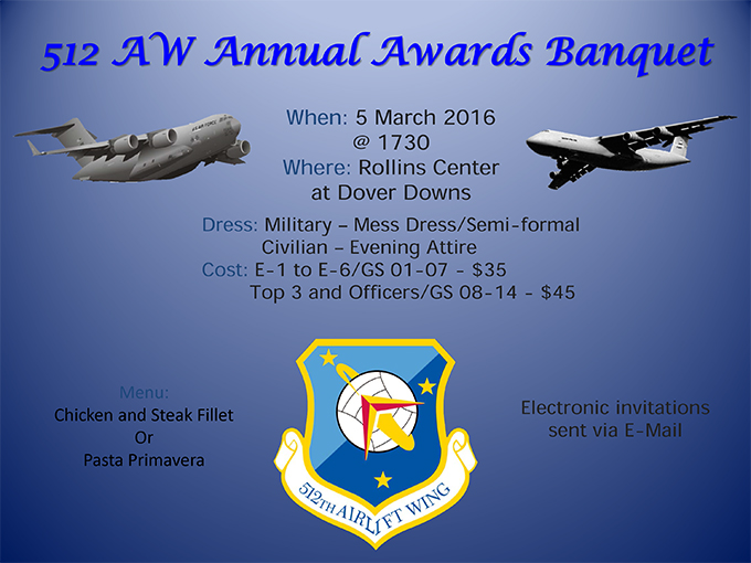 Liberty Wing's Annual Awards Banquet