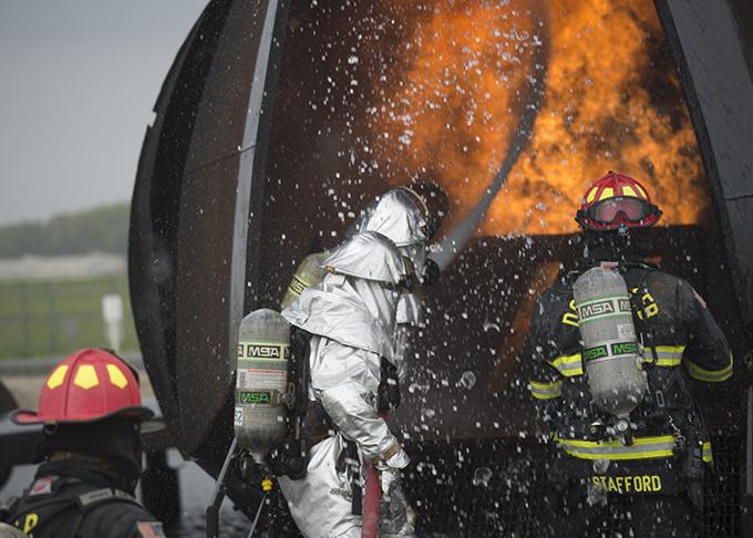 Reserve firefighters battle blaze